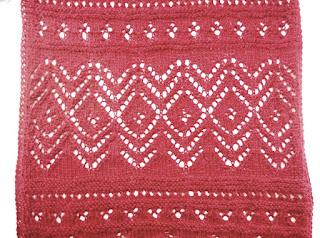 detalle del punto calado de la bufanda