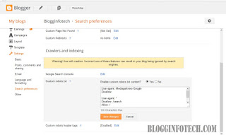 Blogginfotech custom robots.txt