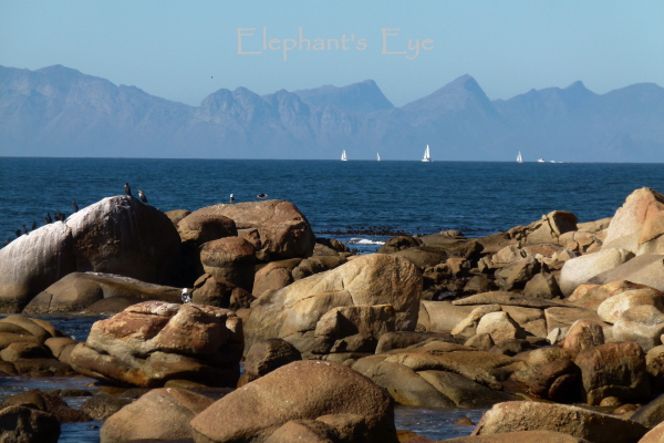 Across False Bay to the Hottentots Holland mountains in July