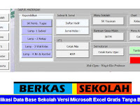 Aplikasi Data Base Sekolah Versi Microsoft Excel Gratis Tanpa Bayar