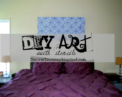DIY Art with stencils