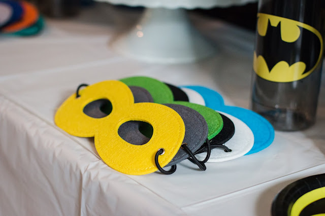 Superhero Masks at a Batman Party