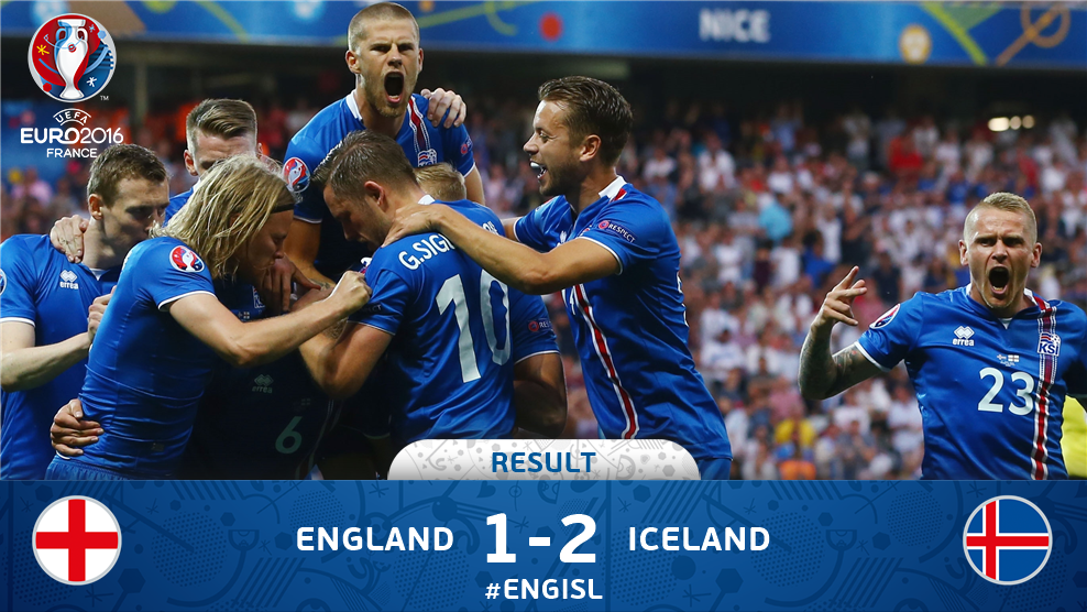Kalahkan Inggris 2-1, Dongeng Islandia Berlanjut