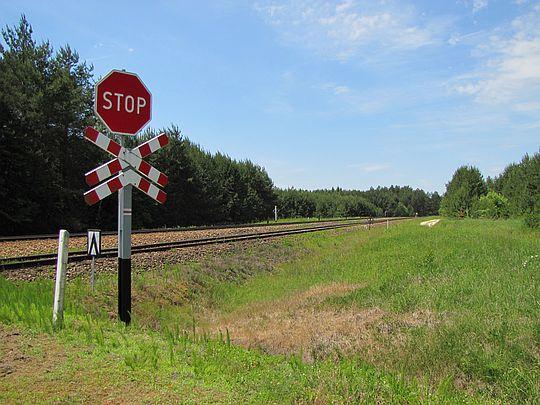 Przejazd kolejowy.