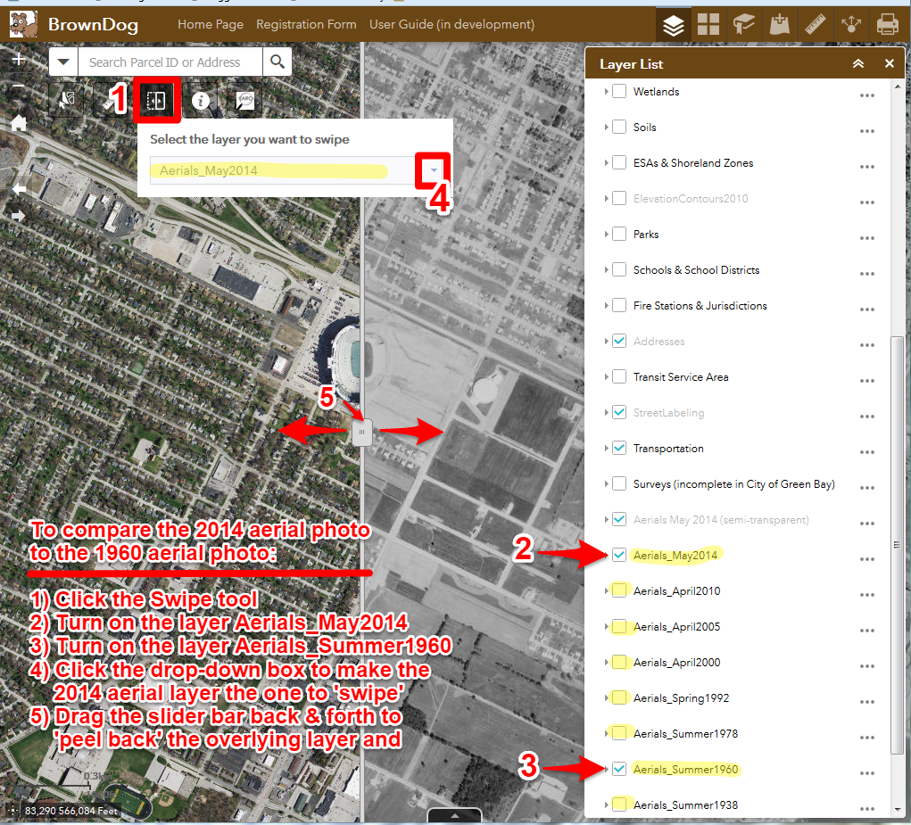 Brown County Gis Land Information Office How To Use The Swipe