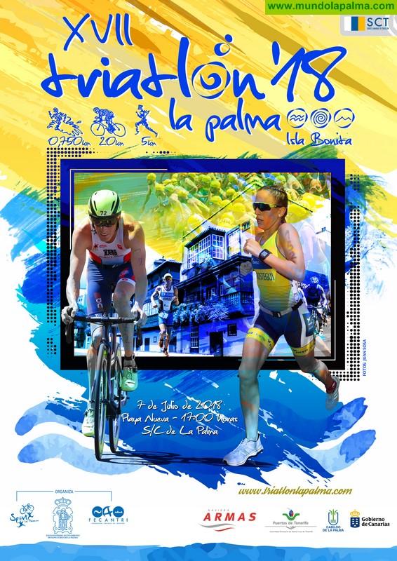 Santa Cruz de La Palma acoge el XVII Triatlón La Palma Isla Bonita, con 150 participantes de los principales equipos de Canarias