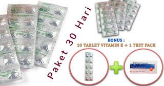 Obat Cepat Hamil AFOLAT 400 MCG (Paket 30 Hari)