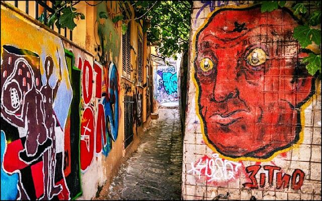 Graffiti und Straßenkunst in Athen