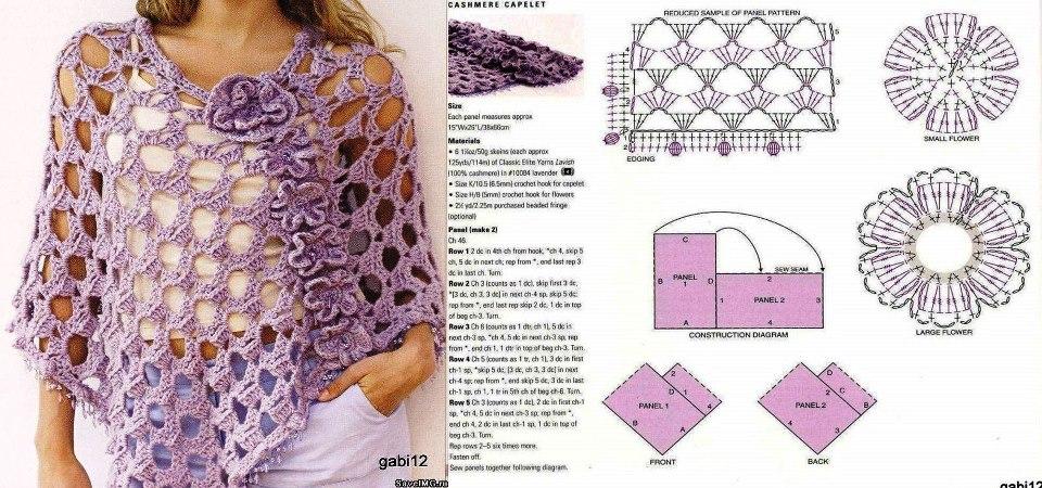 Compartiendo moda y tejidos: Ponchos a crochet
