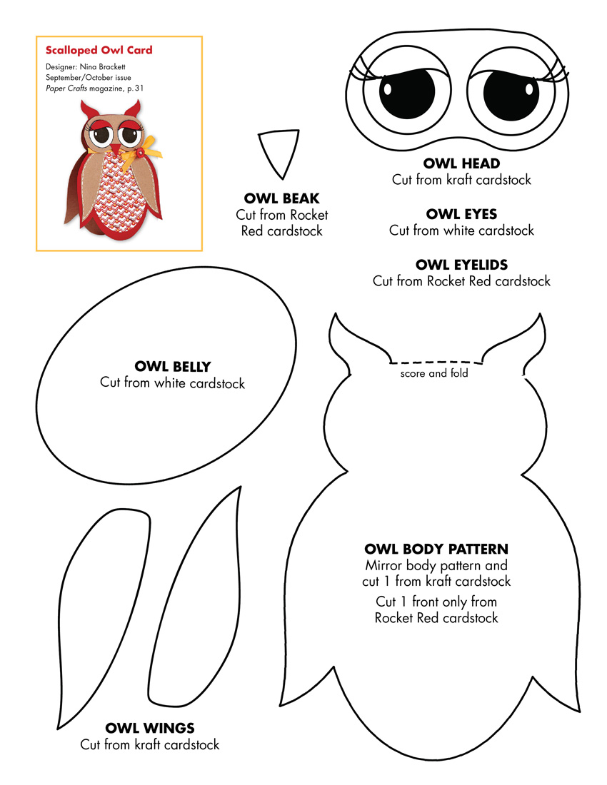 free craft templates to print crafty patti 39 s quilting and crafts owl template