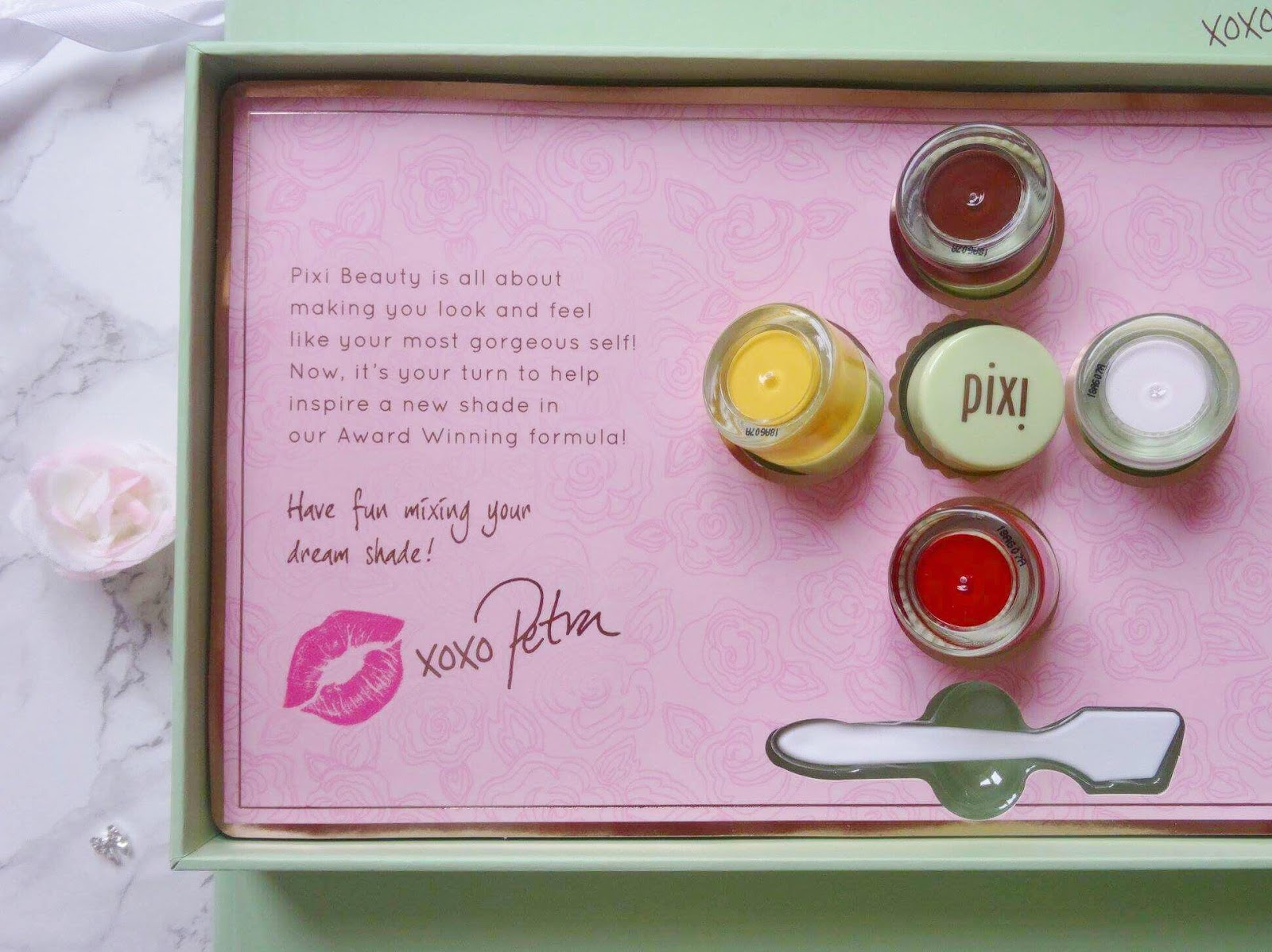 Pixi by Petra PR Package Message From Petra