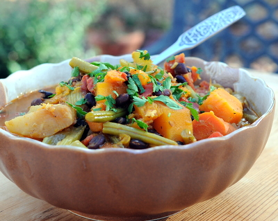 Slow Cooker Curried Vegetable Stew ♥ KitchenParade.com, a spiced vegetable stew, your choice of vegetables. Real Food, Fresh & Flexible. Vegan. Paleo. Very Weight Watchers friendly!
