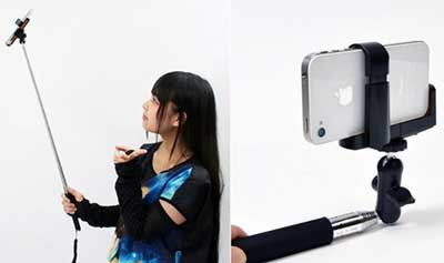 Extendible arm for selfies
