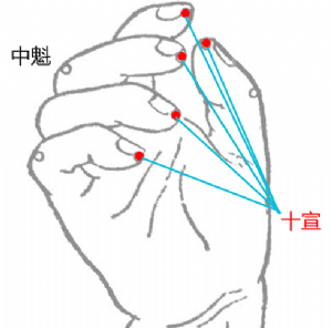 十宣穴位 | 十宣穴痛位置 - 穴道按摩經絡圖解 | Source:big5.wiki8.com