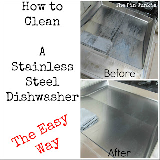 how to clean a stainless steel dishwasher the easy way