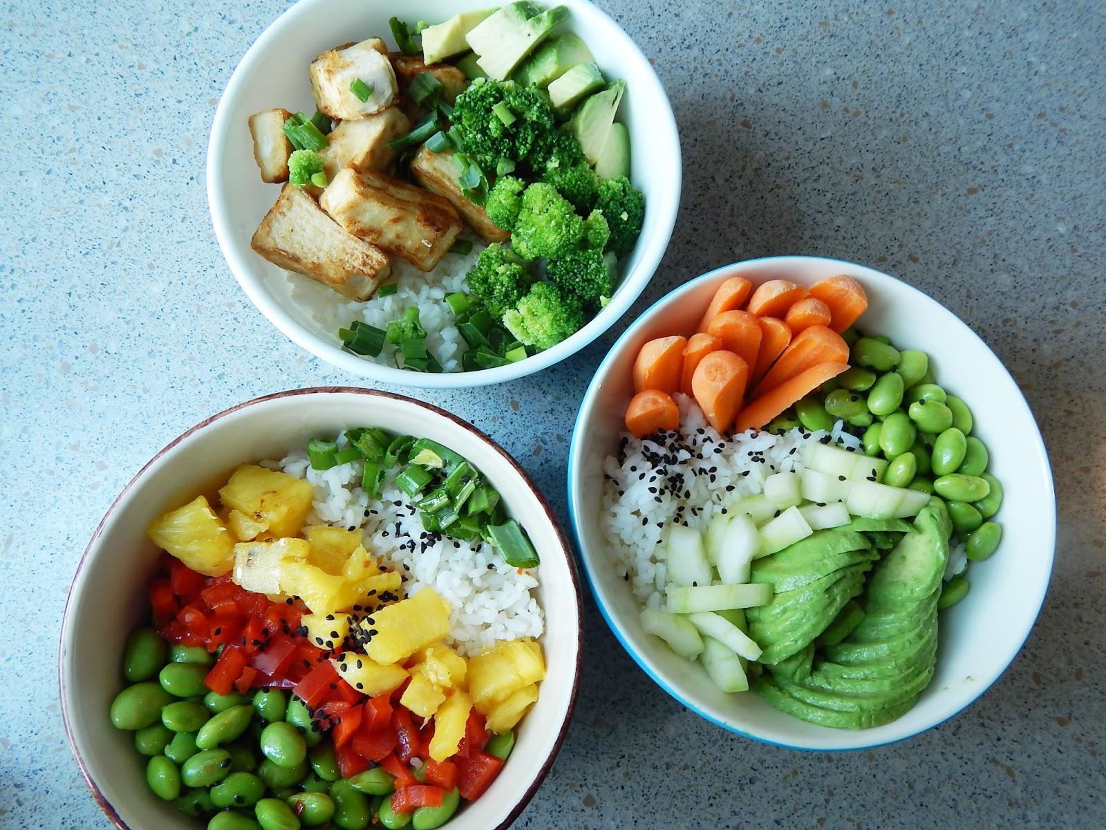Sushi bowls altos en proteína