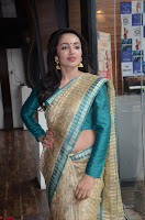Tejaswi Madivada looks super cute in Saree at V care fund raising event COLORS ~  Exclusive 010.JPG