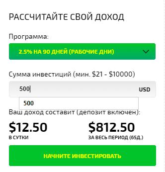 Калькулятор доходности в ClickCredit