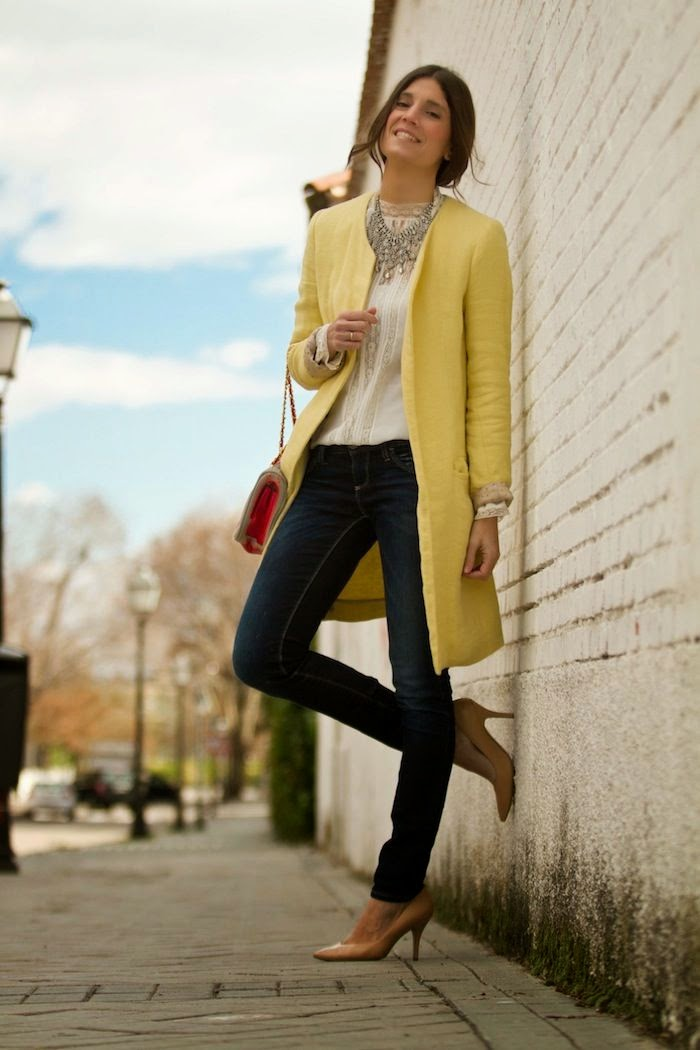 Bright Idea in a yellow overcoat