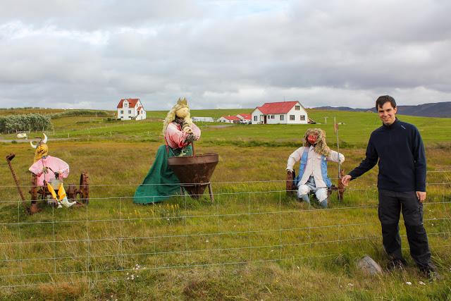 Espantapájaros vikingos en Islandia