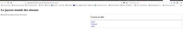 La page index.xhtml