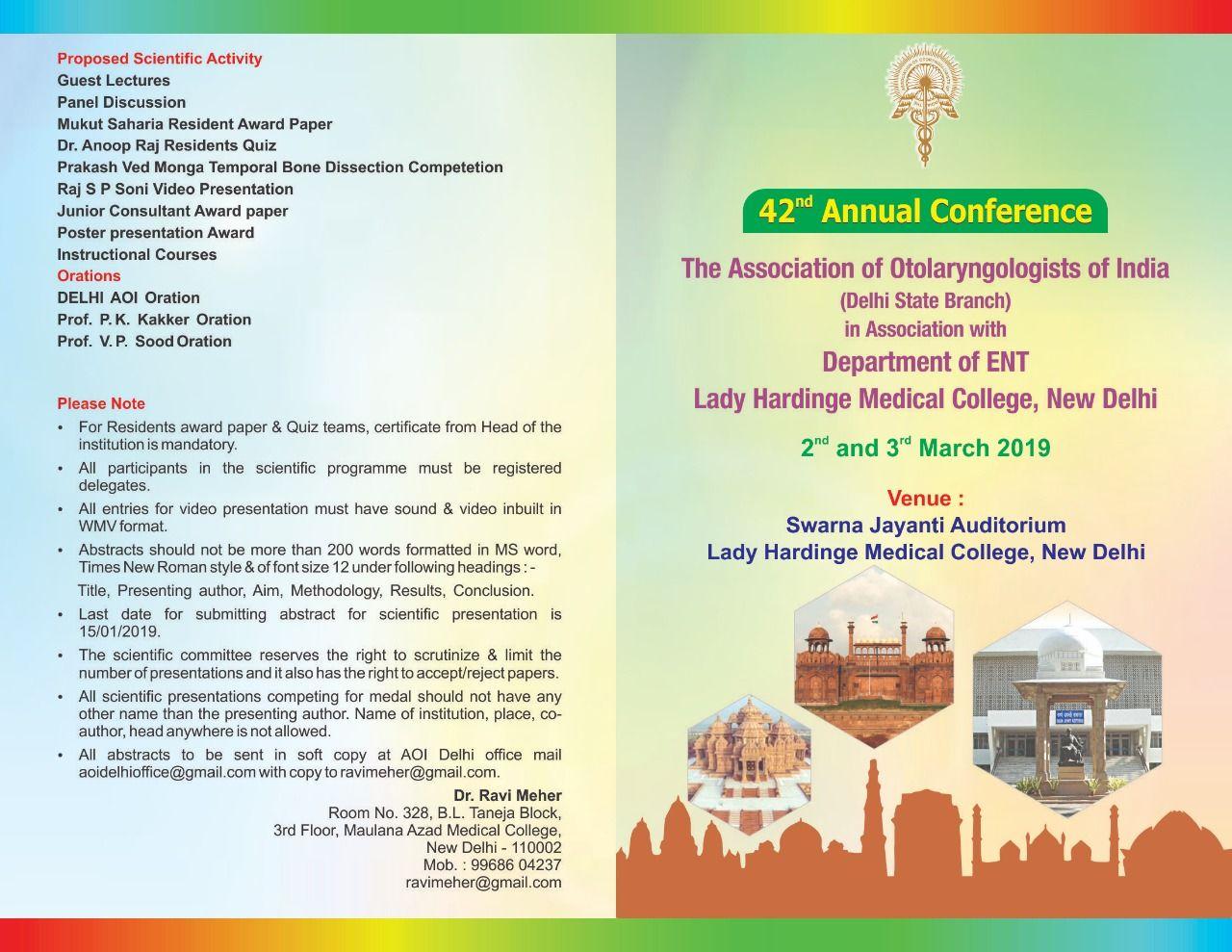 Association of Otolaryngologists of India: November 2018