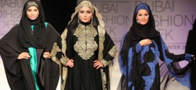 عبايات بالحجاب الموضة في دبي بالصور