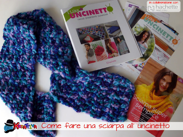 Come fare una sciarpa all' uncinetto a maglia alta