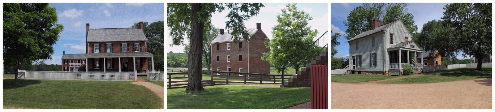 L Clover Hill Tavern C Appomattox County Jail R Meeks Store