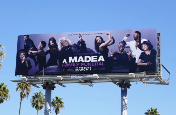 A Madea Family Funeral film billboard