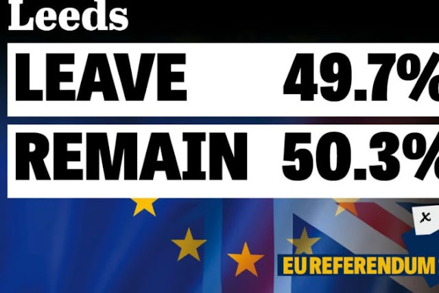 Leeds votes 'remain' in EU ballot by tiniest of margins - as rest of Yorkshire says 'bye bye Brussels'