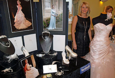 Picture: Brigg business Joanna Leigh Couture at an Angel Suite wedding fair - see Nigel Fisher's Brigg Blog
