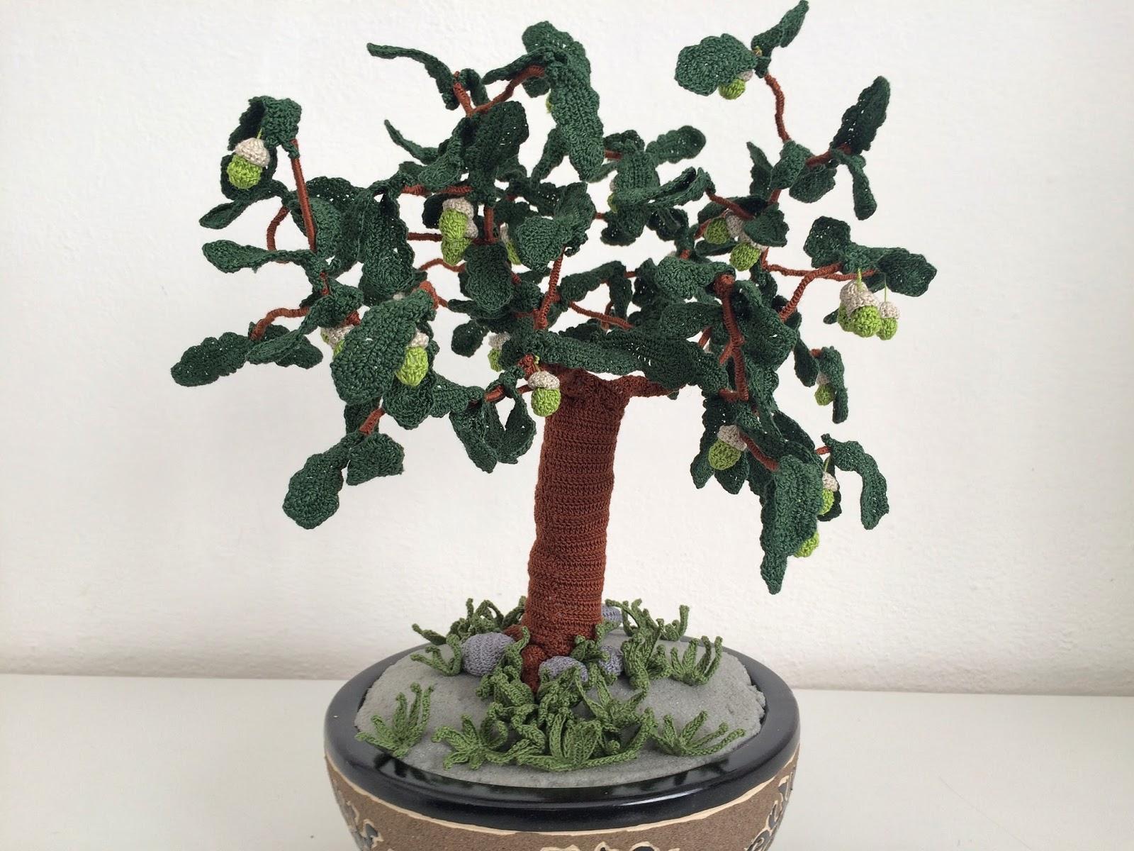 Il blog di sam how to crochet an oak bonsai for Il blog di sam piante grasse