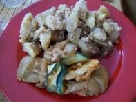 vegan essen in wien - Vegane gebratene Zucchini (Korea) mit Nuss-Kartoffeln - Österreich (veganes Rezept für 2 Personen) -  hauptspeise