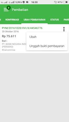 Verifikasi dan Upload Bukti Pembayaran Tokopedia