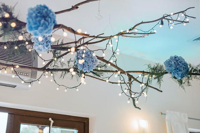 taaaka ryba ślub, wilga i kruk, dekoracje błękitne na ślub