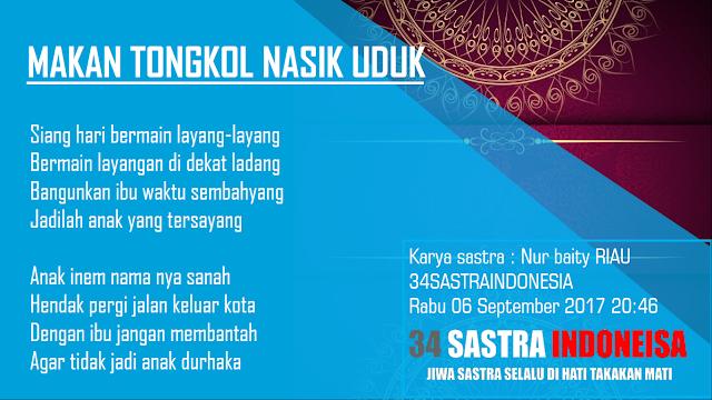 Pantun agama terbaru MAKAN TONGKOL NASIK UDUK | 34 Sastra Indonesia