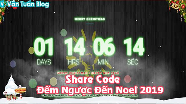 Share Template Và Code Đếm Ngược Đến Noel