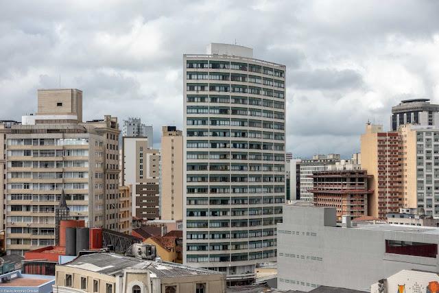 Vista do Edifício Barão do Serro Azul do Mirante Marumbi