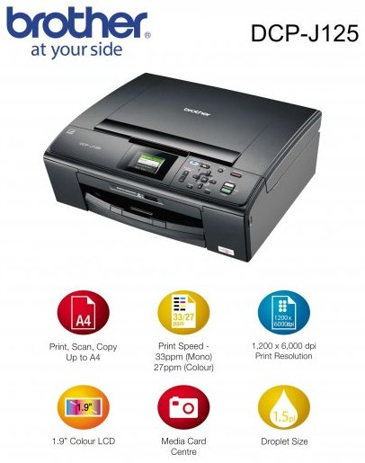 BROTHER DCP-J125 SCANNER DRIVER