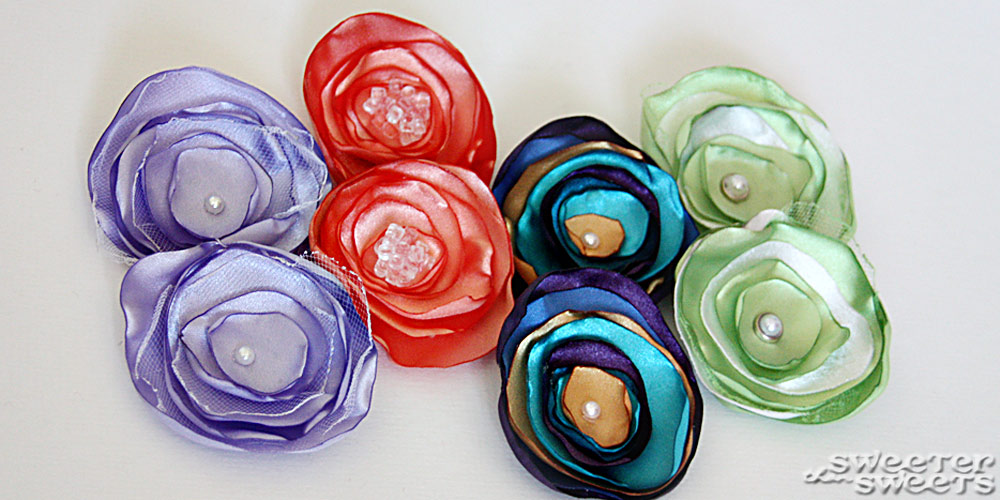 Satin Flower Shoe Clips by Tricia @ SweeterThanSweets on Etsy
