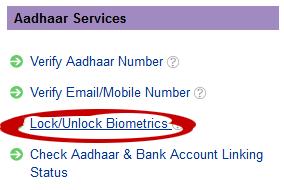 Lock unlock biometrik