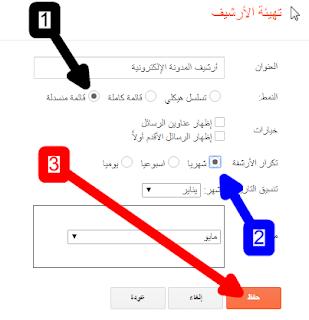 طريقة أضافة وتنسيق أرشيف المدونة الإلكترونية