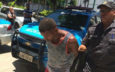 Acusado de tentar assaltar americano em Ipanema tem 13 passagens pela polícia