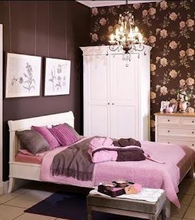 dormitorio juvenil marrón rosa