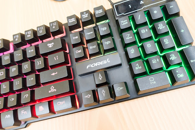 lazada tech deals under 500 - Forev FV-Q1 Gaming Keyboard