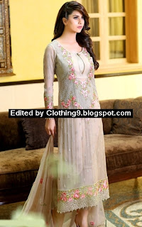 fancy chiffon dresses collection for eid