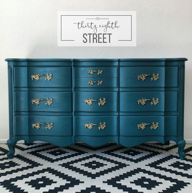 Painted Dresser In Pea Blue