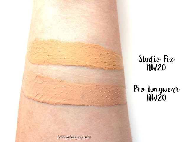 MAC Pro Longwear Foundation NW20 Swatch, MAC Studio Fix Foundation NW20 Swatch