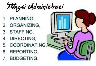 pengertian administrasi dan fungsi administrasi